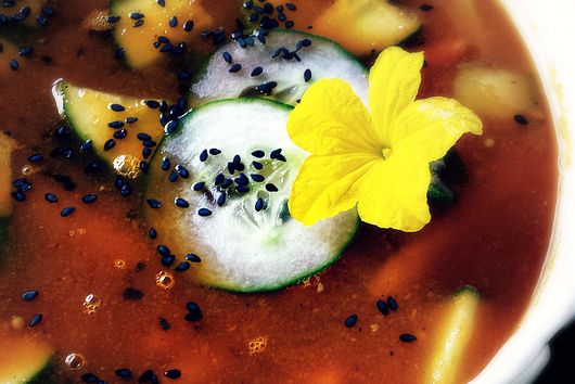 Creamy Carrot Cucumber Soup