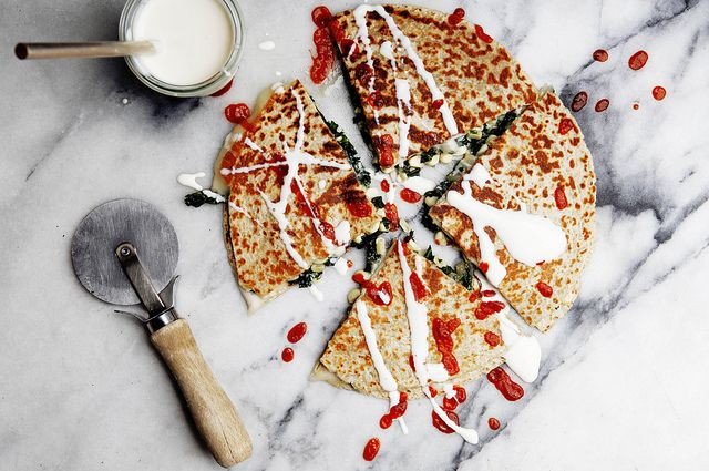 Kale and Corn Quesadillas Recipe