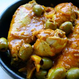 Moroccan Chicken with Lemons and Olives