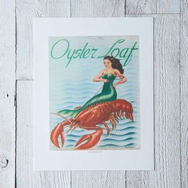 Vintage Menu Print: Oyster Loaf