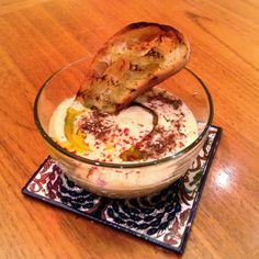 Smoky Eggplant Yogurt Soup with Olive Oil, Chile and Za'atar