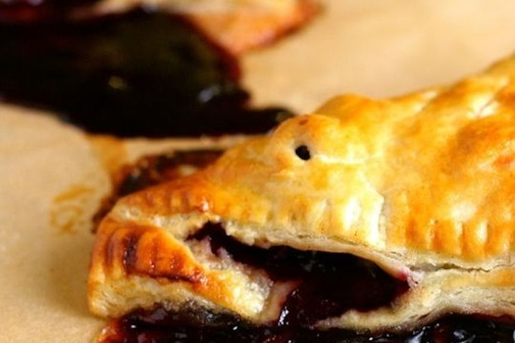 Blueberry Rhubarb Turnovers