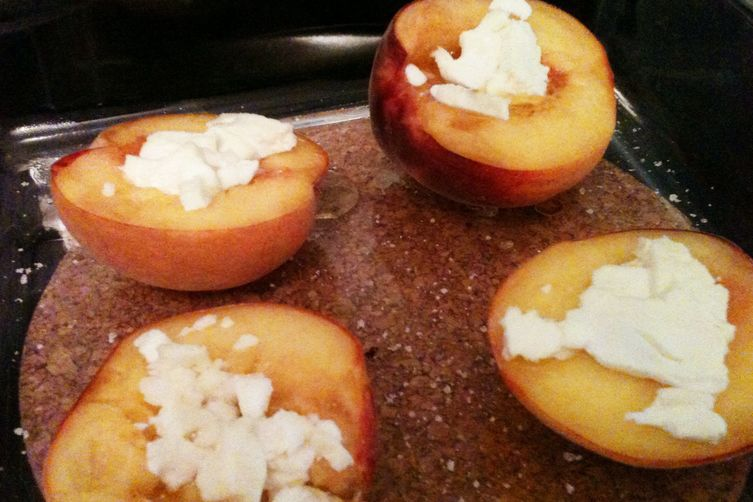 Baked Peaches with Feta Recipe