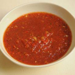 Gazpacho with Honeydew & Peppadew