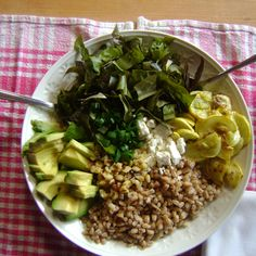 Avocado, Zucchini and Farro Salad.