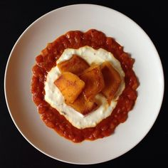 Kaddo (Afghan Pumpkin with Yogurt and Tomato Sauces)