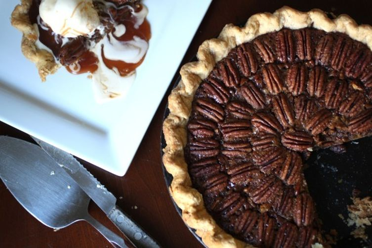 Roasted Butternut-Maple Pie with Smoked Pecans