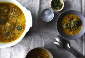 Dinner Tonight: Lentil Meatballs with Indian Fenugreek Sauce