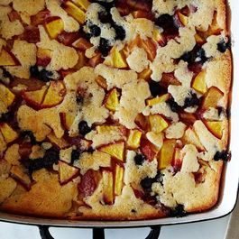 """Cuppa Cuppa Sticka"" Peach and Blueberry Cobbler"