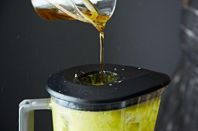 Oil in blender