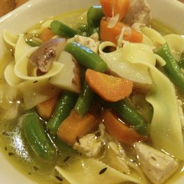 Spicy Chicken Noodle Stew