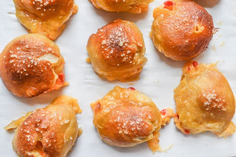 Pimento Cheese Stuffed Pretzel Bites