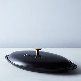 Staub Cast Iron Covered Fish Pan