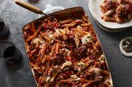 Baked Pasta & Porchetta Meatballs