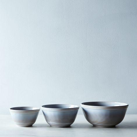 Grey Swirl Glass 3-Piece Mixing Bowl Set