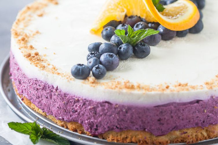 Blueberry Cake with Quark Cream