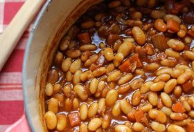 Slow Cooked Cider Beans