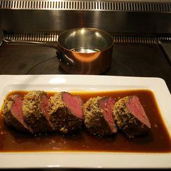 Mustard-Crusted Beef Tenderloin with Sauce Robert