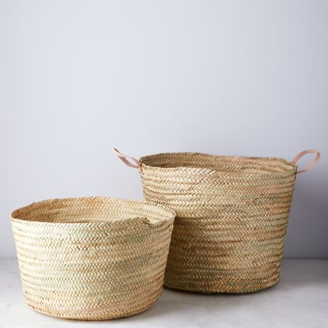Handwoven Palm Storage Basket