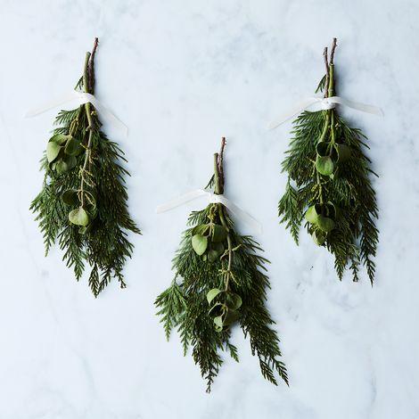 Fresh Mistletoe Branch (Set of 3)