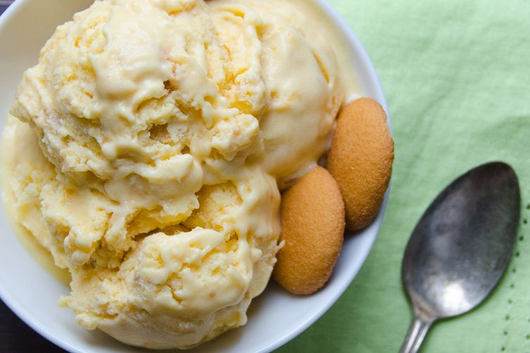 sweet peach and nilla ice cream
