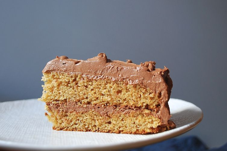 Chocolate Graham Cracker Layer Cake