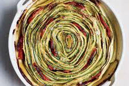 Zucchini Blossom Gratin