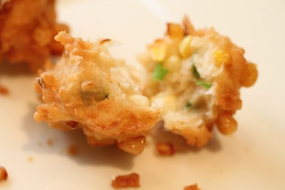 Crunch Coconut Corn Fritters