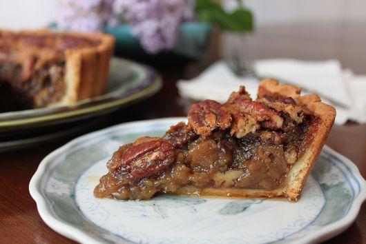 maple syrup-smoked pecan tart
