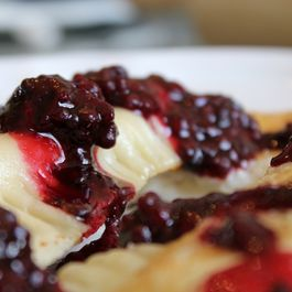 Lemon Ricotta Blackberry Dumpling Blintzes