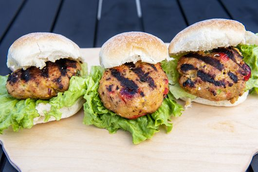 Charcoal Grilled Cherry Pork Burgers