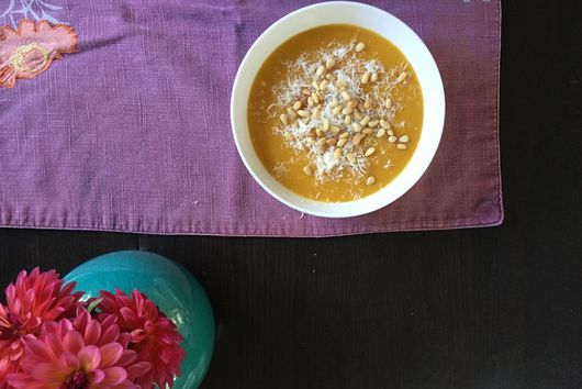 Butternut Squash and Cannellini Bean Soup with Sage