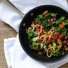Sautéed Swiss Chard with Fruit & Nuts