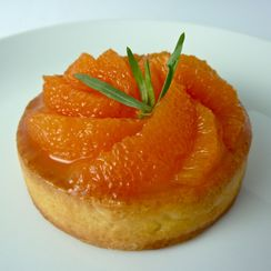 Cara Cara Orange Cream Tart with Honey-Tarragon Glaze