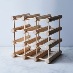 Ash Wood 12-Bottle Wine Rack