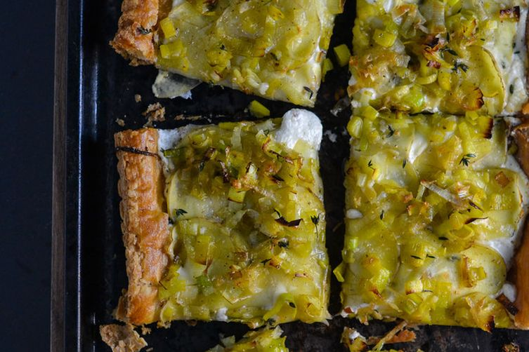 Potato, Leek, and Goat Cheese Tart