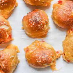 Pimento Cheese Stuffed Pretzel Bites