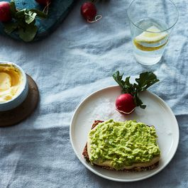 2e0826dd 1065 43de ab14 b251c4368452  2017 0228 tartine with mustard mayo and mashed avocado and radishes with butter and salt james ransom 0057