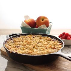 Summertime Peach + Raspberry Crisp