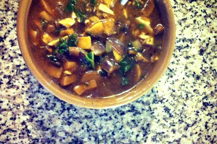 Mushroom Kale Gravy