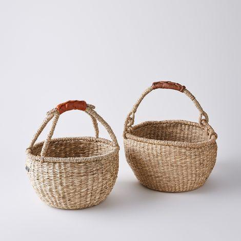 Handwoven Seagrass Market Basket