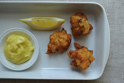 Crab Beignets with Aïoli Dipping Sauce