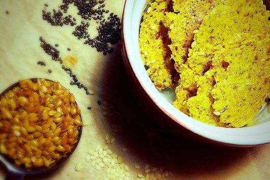 Three Seed Coconut Pulp Crackers