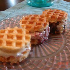 Petit Waffle Ice Cream Sandwiches