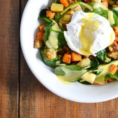 Double Potato Hash with Poached Eggs and Hollandaise Sauce