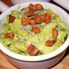 Avocado Mac n Bleu Cheese with Pancetta