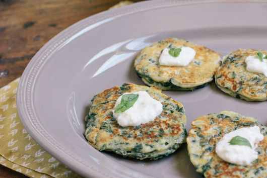 Swiss Chard Cakes with Greek Yogurt