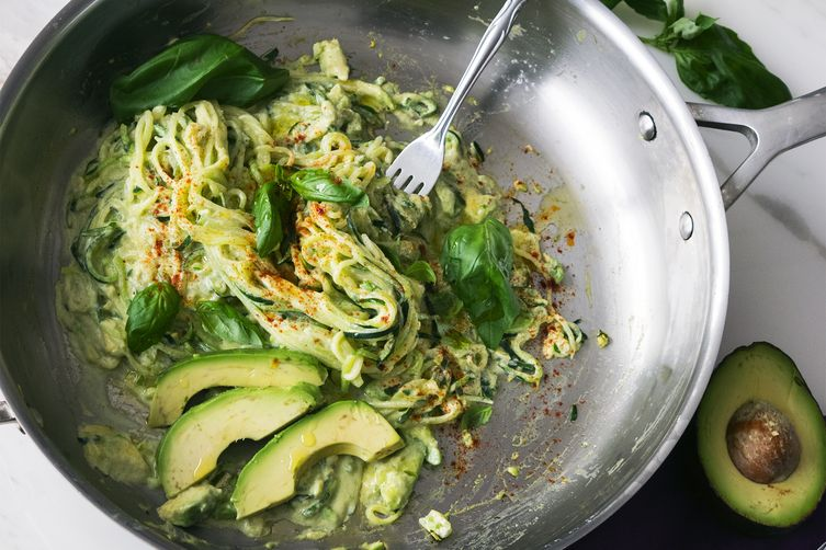 Quark & Avocado Zoodles