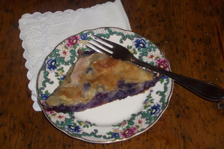 Blueberry baklava