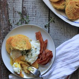 Manchego Thyme Johnny Cakes